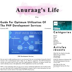 Guide For Optimum Utilization Of The PHP Development Services