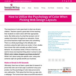 How to Utilize the Psychology of Color When Picking Web Design Layouts