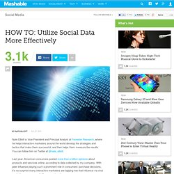 HOW TO: Utilize Social Data More Effectively