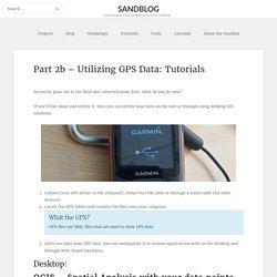 Part 2b – Utilizing GPS Data: Tutorials – Sandblog