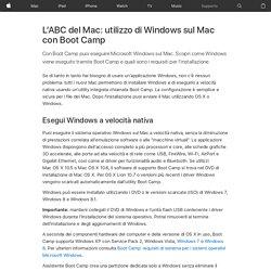 L'ABC del Mac: utilizzo di Windows sul Mac con Boot Camp - Supporto Apple