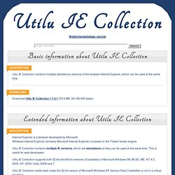 IE Collection - Utilu.com