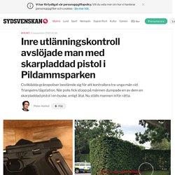 Inre utlänningskontroll avslöjade man med skarpladdad pistol i Pildammsparken