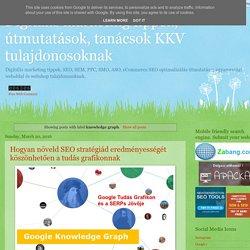 Digitális marketing tippek, útmutatások, tanácsok KKV tulajdonosoknak: knowledge graph