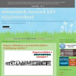 Digitális marketing tippek, útmutatások, tanácsok KKV tulajdonosoknak: shopify webshop