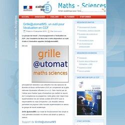 Grille@utomatMS, un outil pour l'évaluation en CCF