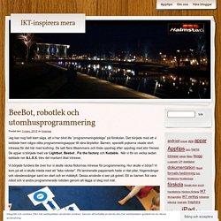 BeeBot, robotlek och utomhusprogrammering