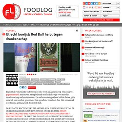 rectificatie FoodLOG: Utrecht bewijst: Red Bull helpt tegen dronkenschap