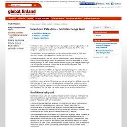 Israel och Palestina – två folks heliga land - Utrikesministeriet: Global.finland: Global fostran: Världens konflikter
