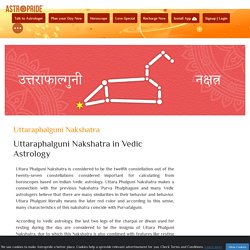 Uttaraphalguni Nakshatra