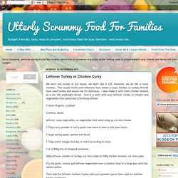 Leftover Turkey or Chicken Curry