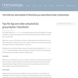 Tips för dig som söker uttrycksfulla gravyrskyltar i Stockholm
