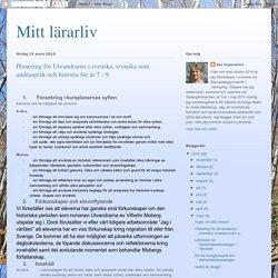 Planering för Utvandrarna i svenska, svenska som andraspråk och historia för år 7 - 9