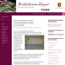 Utvärdering med eleverna - Förstelärare i Svedala