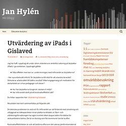 Utvärdering av iPads i Gislaved