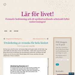 Utvärdering av svenska för hela läsåret