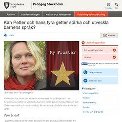 Kan Petter och hans fyra getter stärka och utveckla barnens språk?