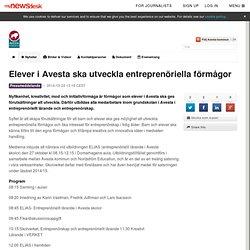 Elever i Avesta ska utveckla entreprenöriella förmågor - Avesta kommun