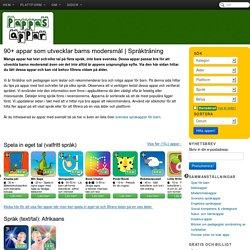 Appar som utvecklar barns modersmål