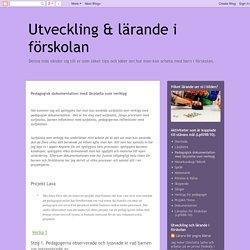 Pedagogisk dokumentation med lärplatta som verktyg