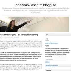 Grammatik i tyska - ett koncept i utveckling - johannasklassrum.blogg.se