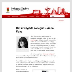 Det utvidgade kollegiet – Anna Kaya
