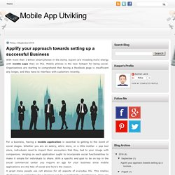 Applify your approach towards setting up a successful Business
