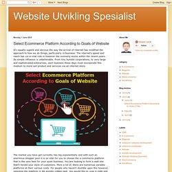 Select Ecommerce Platform According to Goals of Website