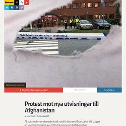 Protest mot nya utvisningar till Afghanistan