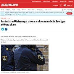 Insändare: Utvisningar av ensamkommande är Sveriges största skam