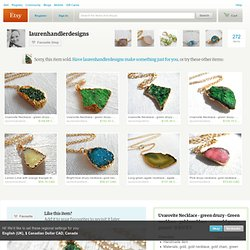RESERVED LISTING Uvarovite Necklace by laurenhandlerdesigns
