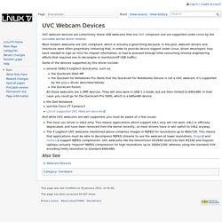 UVC Webcam Devices