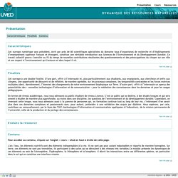 Dynamique des ressources naturelles - UVED