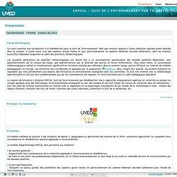 ENVCAL - Suivi de l'environnement par télédétection