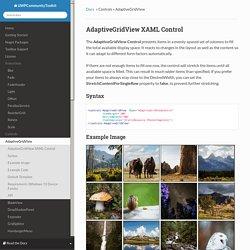 AdaptiveGridView - UWPCommunityToolkit