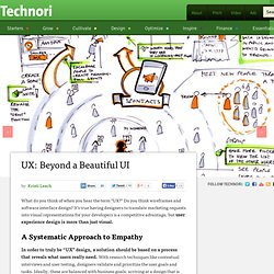 UX: Beyond a Beautiful UI | Technori