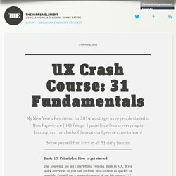 UX Crash Course: 31 Fundamentals