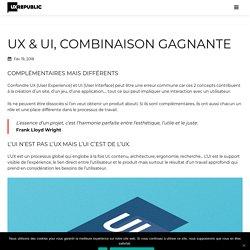 UX & UI, combinaison gagnante