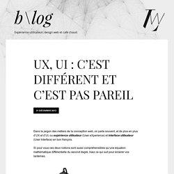 UX, UI : c'est différent et c'est pas pareil