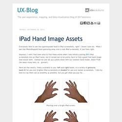 IDV User Experience: iPad Hand Image Assets