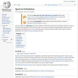 Sport in Uzbekistan