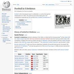 Football in Uzbekistan