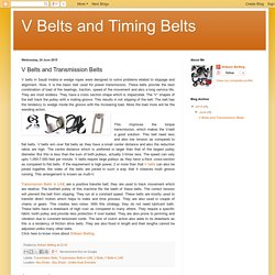 Information about Transmission Belts in UAE