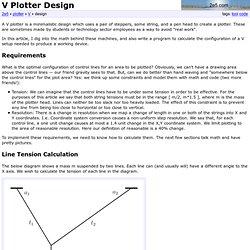 V Plotter Design