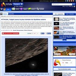 V774104, l'objet connu le plus lointain du Système solaire