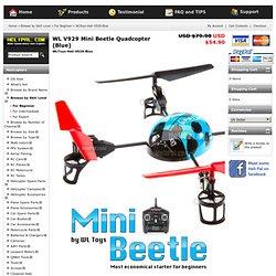WL V929 Mini Beetle Quadcopter (Blue) - HeliPal - Caffeine Security Secured