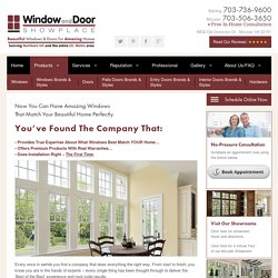 window replacement contractor northern va