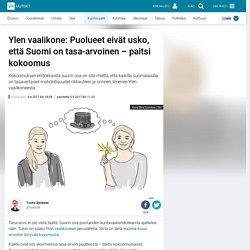 n vaalikone: Puolueet eivät usko, että Suomi on tasa-arvoinen – paitsi kokoomus