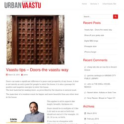 Vaastu tips – Doors-the vaastu way