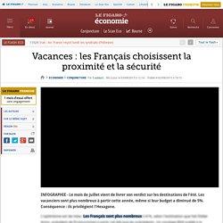 Vacances : les Français choisissent la proximité et la sécurité